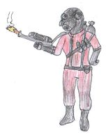 Pyro from Team Fortress by RockyRock76