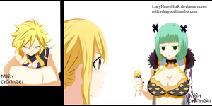 Dimaria, Lucy and Brandish - Fairy Tail Chp 521 by LucyHeartfiliaR