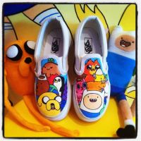 Adventure Time Vans Characters by VeryBadThing