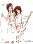 Protective of your Bassist! - Andley by glitch-ish