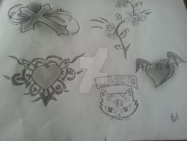 my own disigned tattoos by zita952