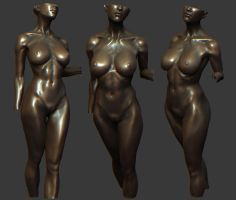 female statue wip by mojette