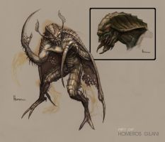 Moth-Bat Hybrid Monster by Homeros-Gilani