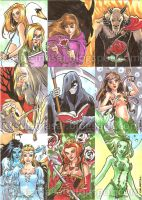 Grimm Fairy Tales Sketch Cards 01 by Celestial4ever