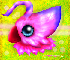 Biyomon ShineEyes - small giftpic for sis by norngirl