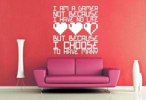 Many Lives Wall Decal by GeekeryMade