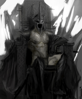 Comission sketch Witch King by kuakugava