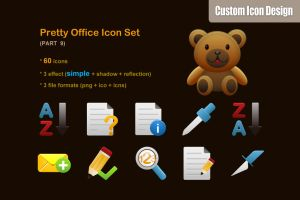 Pretty Office Icon Set part 9 by customicondesign