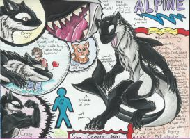 Alpine the lovable Akhlut! (Ref. Sheet) by AmericanBlackSerpent
