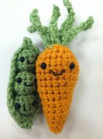 Amigurumi Peas and Carrots by NerdStitch