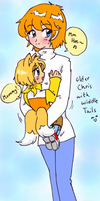 Sonic X - mommyChris and Tails by Cloud-Kitsune