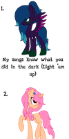 MLP - Song Themed Adopts - Closed by cheesepuff2
