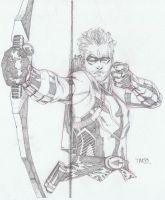 Green Arrow sketch by timothygreenII