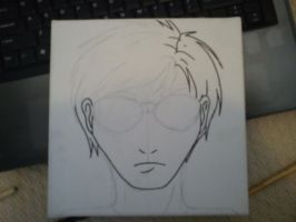 Dave Strider Canvas Painting WIP by MrOrangeCreamsicles