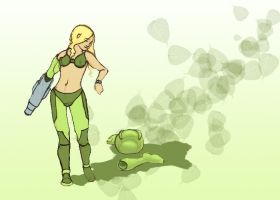 Samus in the green apple by DrGear