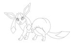 FREE Glaceon Padded Male Base by PaddedVeePaws