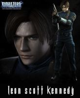 Leon S. Kennedy RE2 by Claire-Wesker1