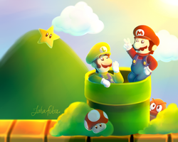 Super Mario Bros 30th Anniversary by Jaha-Fubu