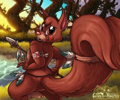 Juniper Squirrel by AmandaDaHamster
