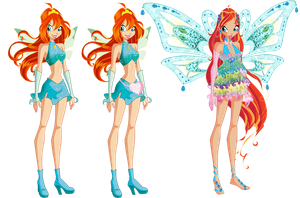 Bloom's Fairy Evolution by ColorfullWinx