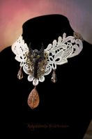 Victorian Steampunk Cream Choker Angel by Verope