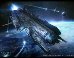 Galaxy Saga_Space ship Tlaloc_reg by moonworker1