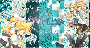 Rin and Len Kagamine Wallpaper by DonaGreyback