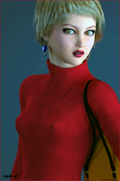 Red Dress by akulla3D