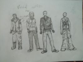 Vandal outfits 1-4 by PaulieSlaugh