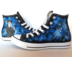 Doctor Who Converse ~ Ten and Tardis by EldalinSkywalker