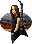 Matt Tuck and his guitar by GuardianOfShigeru