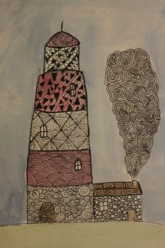 Doodle lighthouse by Marcie-J