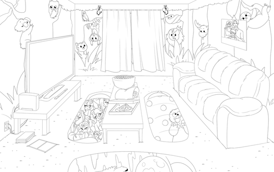 Ryan's Sleepover Outline by ShyKidConnor