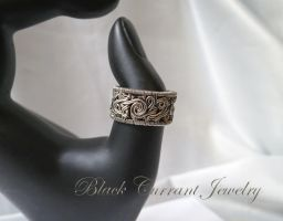 One of a new(reworked old) rings - sterling silver by blackcurrantjewelry