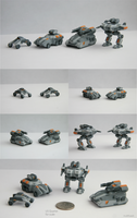 3D Printed Sci-fi Miniature Vehicles by multihawk