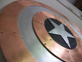 Captain America Shield by creativeetching