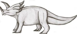Triceratops Charcoal by qwerty1198
