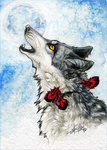 .:Seras.:.Howling at the Moon:. by WhiteSpiritWolf