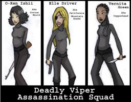 The deadly vipers: kill bill by BloodSplatteredBride