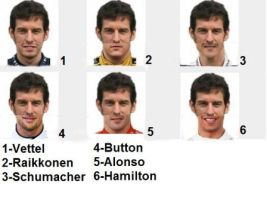 Mark Webber and other drivers by LidiaForza