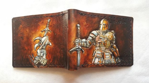 For Honour leather wallet by Bubblypies