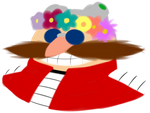 Dr Eggman and a Flower Crown by MxRobotnik