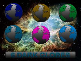 6 Dark Globes by 0dd0ne