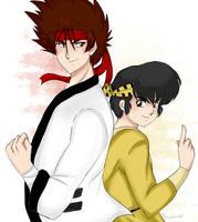 Sanosuke and Ryoga ..FIGHT by AngieSan