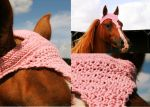 Pink Horse Bonnet-Arabian Or Riding Pony Small by TwistedHorseware