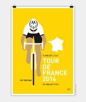 MY TOUR DE FRANCE MINIMAL POSTER 2014 by Chungkong