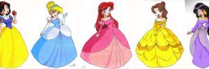 Disney Princesses by Jupta