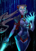 Cyber Moon by artofcarmen
