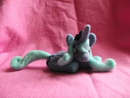 Lying Princess Luna Needle Felted Plush commission by imaginaryfriends2012