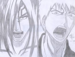 renji vs ichigo by MarFlower
